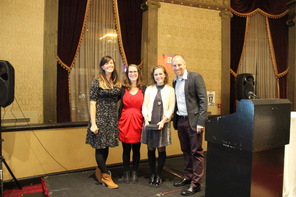 Cohort 2 Fellow Rebecca Willner wins the Fuse Igniter Award at the Cohort 2 Induction Ceremony, November 2017