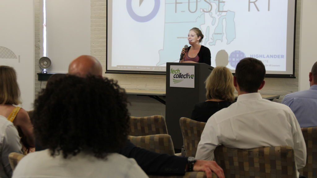 Beth Rabbitt, CEO of The Learning Accelerator, speaks at Fuse Fest, June 2016, Tech Collective