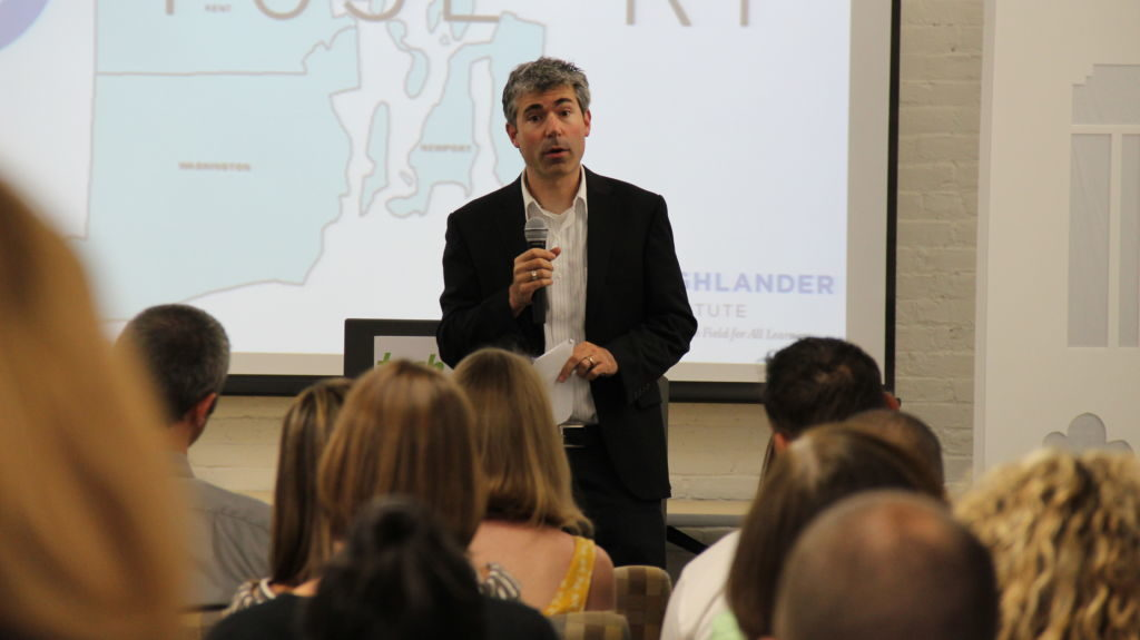 Richard Culatta, RI's Chief Innovation Officer speaks at Fuse Fest, June 2016, Tech Collective