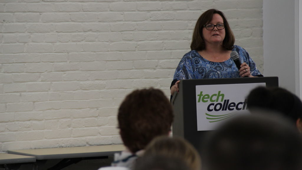 Featured Fellow Speaker Tracey Nangle delivers her remarks at Fuse Fest, June 2016, Tech Collective