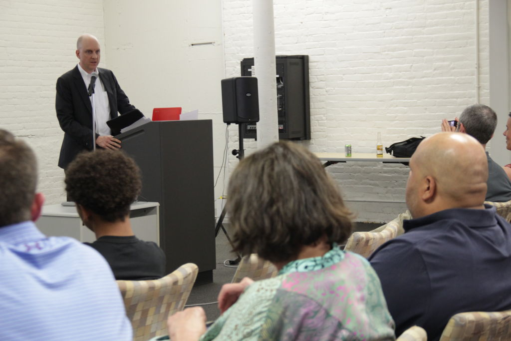 Dr. Ken Wagner, Commissioner of Education for the RI Department of Education speaks at Fuse Fest, June 2017, Tech Collective